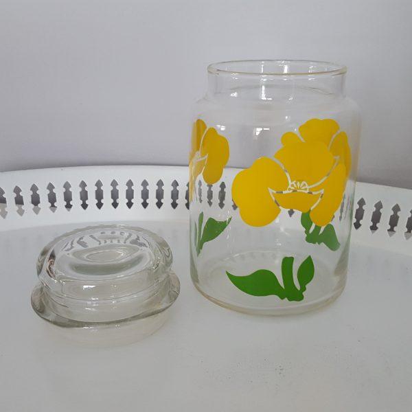 förvaringsburk-glasburk-retro-gul-blomdekor-3