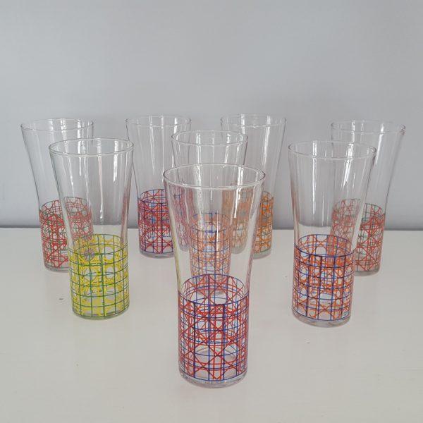 dricksglas-med-rutigt-mönster-vintage-1