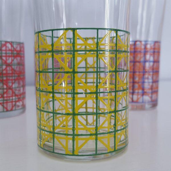 dricksglas-med-rutigt-mönster-vintage-8