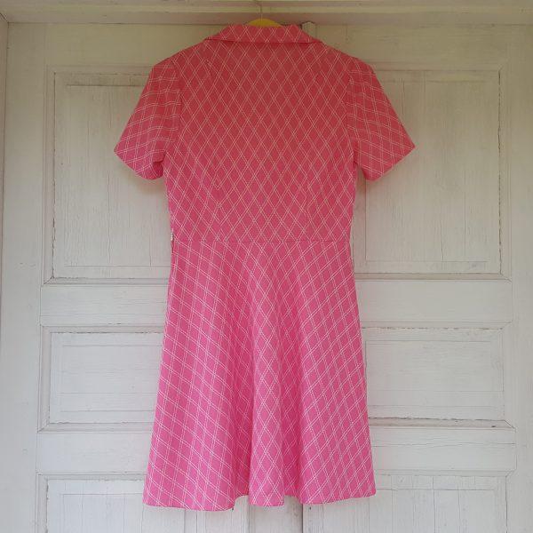 sommarklänning-rosa-&-vit-rutigt-vintage-3