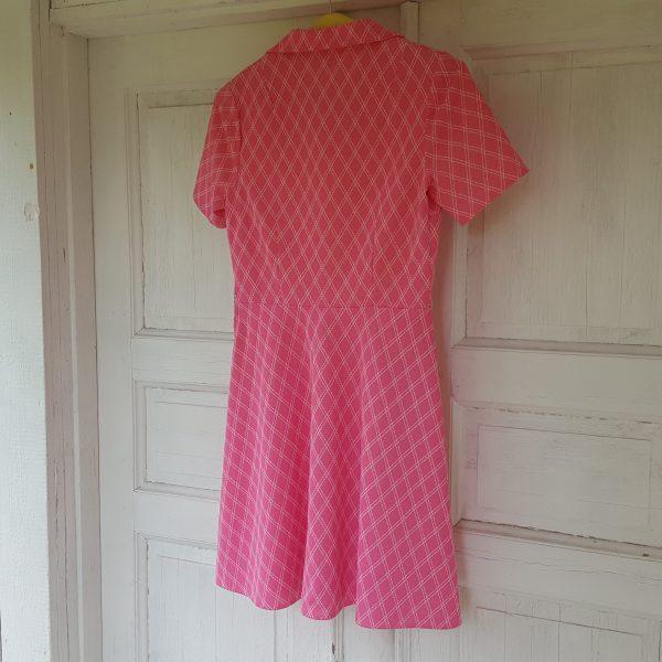 sommarklänning-rosa-&-vit-rutigt-vintage-4