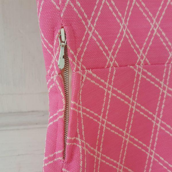 sommarklänning-rosa-&-vit-rutigt-vintage-6