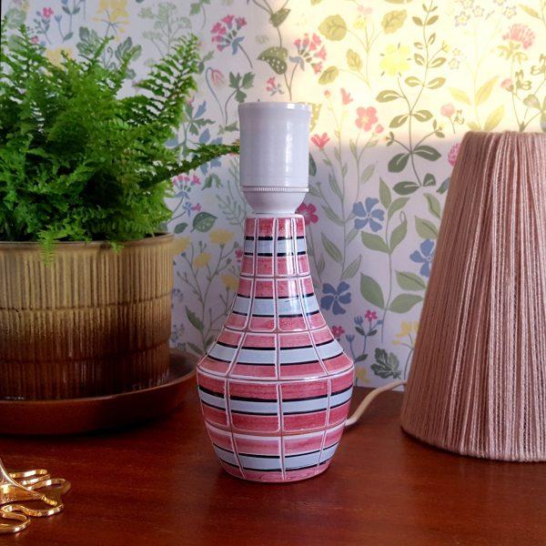bordslampa-keramik-rosa-&-vit-vintage-5