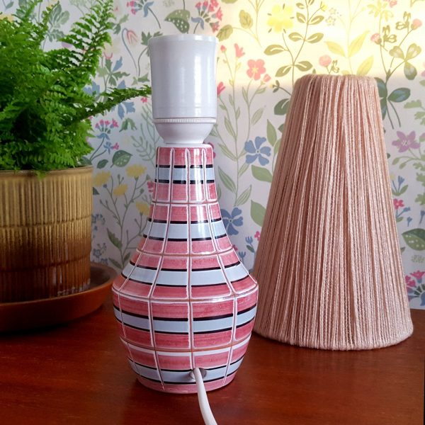 bordslampa-keramik-rosa-&-vit-vintage-6