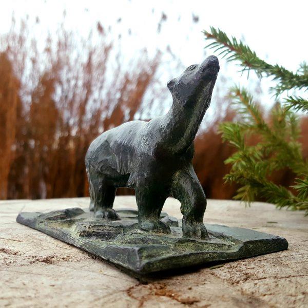 skulptur-brevpress-isbjörn-gjutjärn-art-deco-3