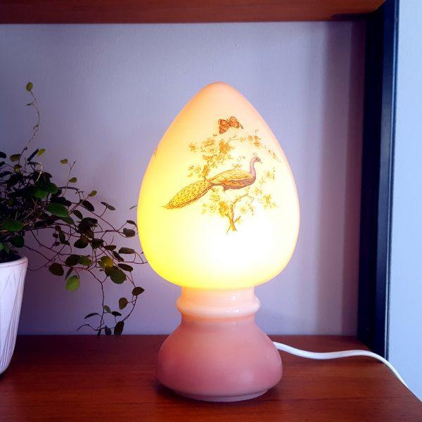svamplampa-påfågel-&-blommor-rosdala-glasbruk-6
