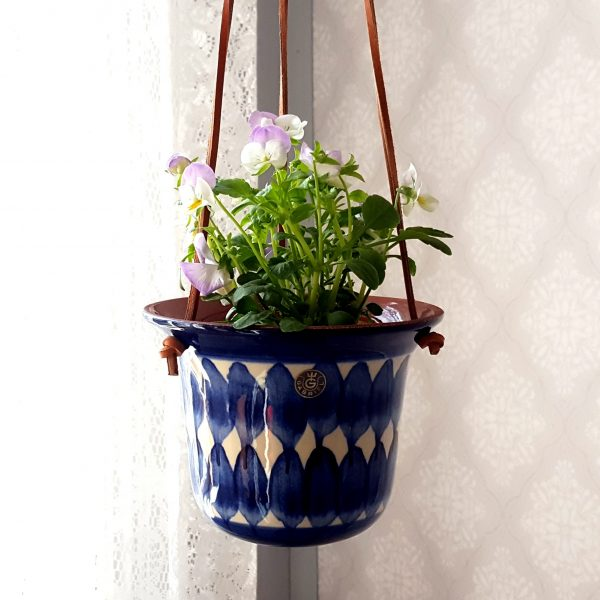 ampelkruka-blå-&-vit-gabriel-keramik-70-talet-1