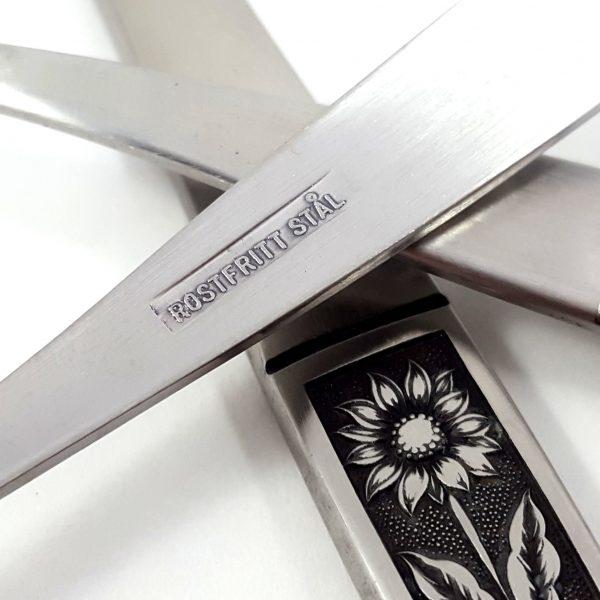 bestick-18-del-solros-rostfritt-stål-vintage-8