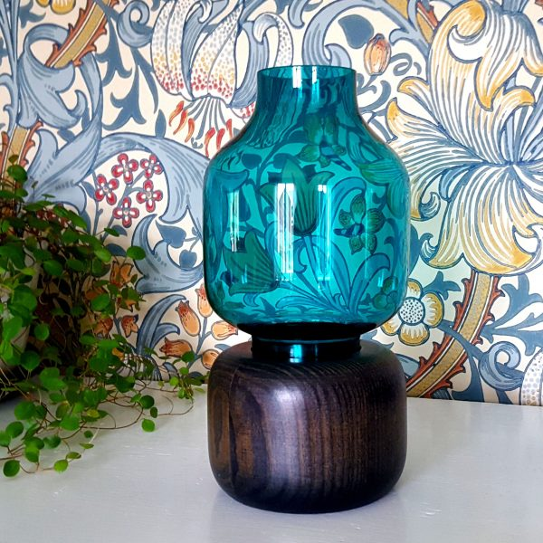 ljuslykta-turkos-glas-&-trä-karl-holmberg-götene-1